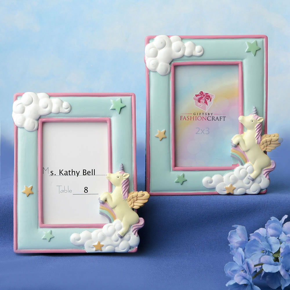 15-100  Unicorn 2  X 3  Placecard Photo Frame- Baby Shower Birthday Favors