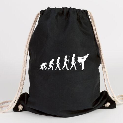 """Juniwords Gym Bag Motif /""""Evolution Karate/"""" Ver Colours Gift Bag"""