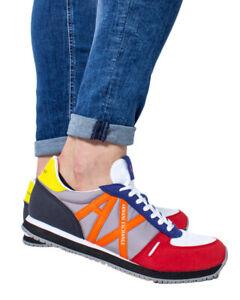 Scarpe-da-ginnastica-Uomo-Armani-Exchange-Micro-Camoscio-Colore-xux017-xv028