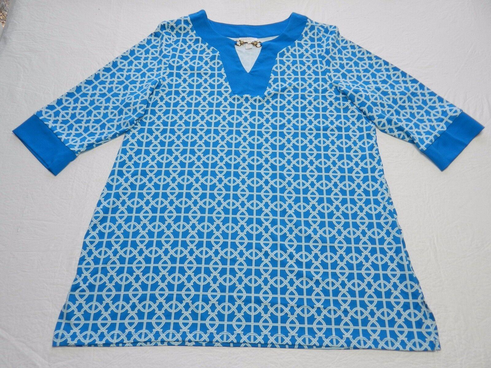 New  79 WOMENS lattice BLOUSE SHIRT TOP tunic = CHARTER CLUB = size 2X = km96
