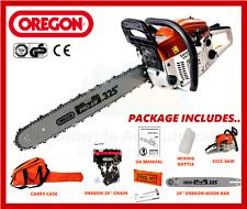 "53cc Petrol Chainsaw 20"" Oregon Guide Bar & Cutting Chain Plus Carry Case New"