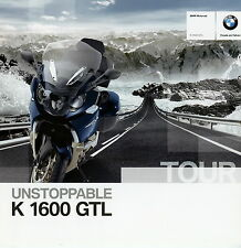 Prospekt Motorrad BMW K 1600 GTL 2010 Motorradprospekt 9 10 brochure Deutschland