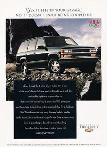 1996-Chevrolet-Tahoe-4x4-Classic-Vintage-Advertisement-Ad-D07