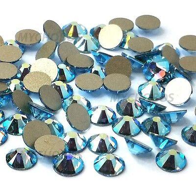 144 Swarovski 2058 5ss crystal flatbacks rhinestones ss5 AQUAMARINE AB (202 AB)