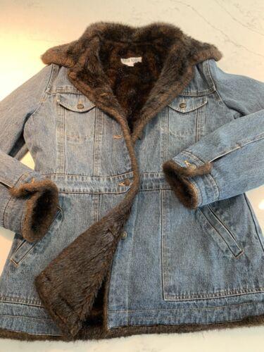 Marvin Richards Denim Jean and Faux Fur Coat Jean