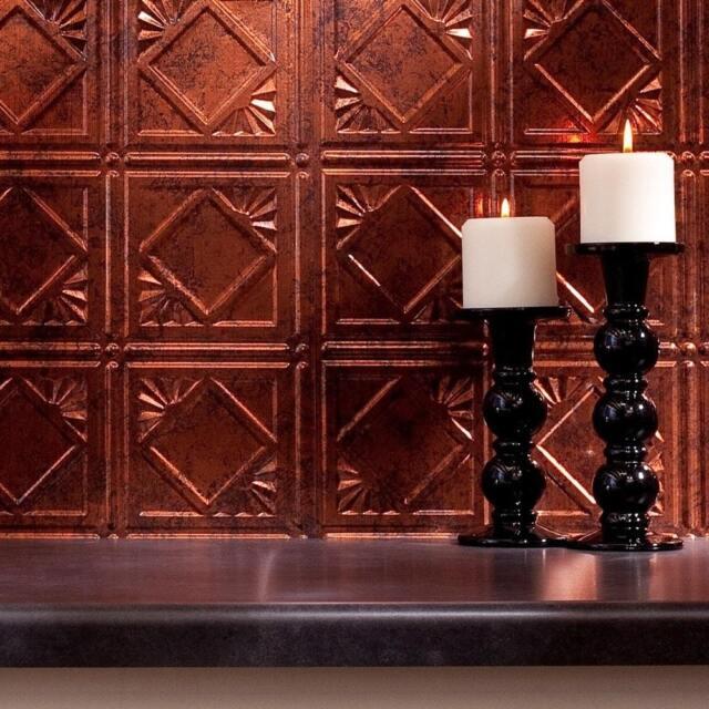 Kitchen Backsplash Sample Hammered Copper Vinyl Wall Panel Bathroom Bath Metal For Sale Online Ebay
