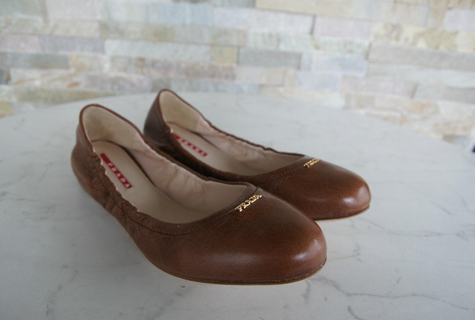 PRADA Gr 36 Ballerinas Slipper Schuhe schuhe schuhe schuhe 3F5659 palisander NEU 0d747c