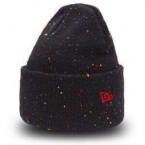 Caricamento dell immagine in corso NEW-ERA-berretto-di-maglia-con-risvolto- FLECKED- a85703ebfac4