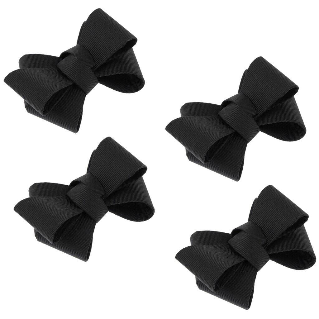 4pcs DIY Bowknot Shoe Buckle Removable High Heel Shoe Clips Charms Bridal