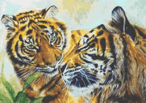 Tiger Paire Nº 5-Cross stitch Chart