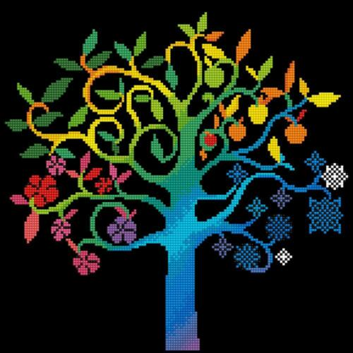 DIAMOND DOTZ Embroidery Facet Art 5D Painting Beads WISHING TREE