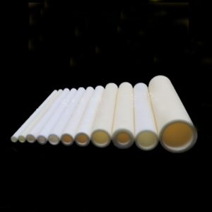 200mm L High Temperature Resistant Ceramic Tube Insulating Pipe Sleeve 3-8mm ID