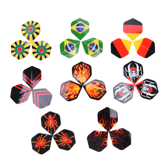 24Pcs Professional Popular Pattern Nice Darts Tail Flights Wing Mixed Style
