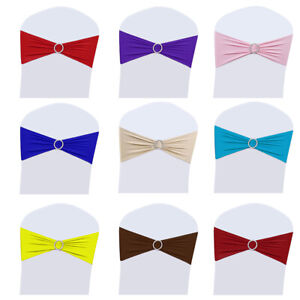 25-50-100-200-Spandex-Stretch-Chair-Cover-Band-Sashes-Buckle-Bow-Wedding-Party