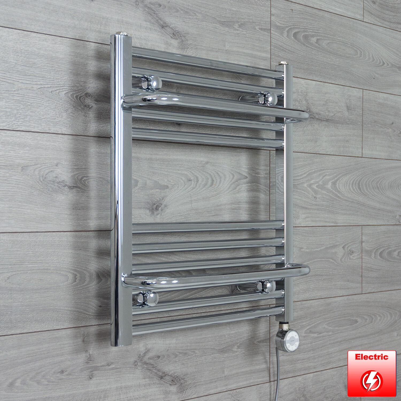 550 mm hauteur 600 mm plat chrome sèche-serviettes radiateur électrique utiliser uniquement