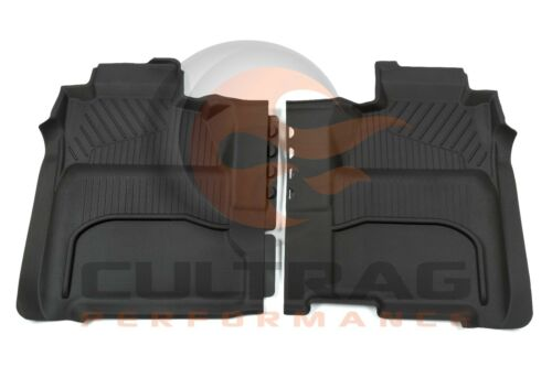 2015-2019 Sierra Crew Cab Front /& Rear All Weather Floor Liners Black