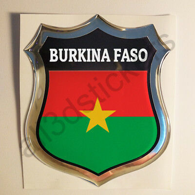 Sticker Burkina Faso Emblem 3D Resin Domed Gel Burkina Faso Flag Vinyl Decal Car eBay