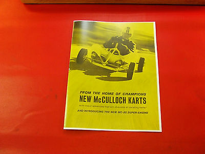 VINTAGE 1960 McCULLOCH ENGINE MANUAL KARTS  28 PAGES REPRODUCTION