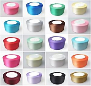25-Meters-Full-Roll-Double-Sided-Satin-Ribbon-fo-Party-Wedding-Cake-Decoration