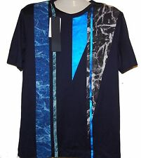 Riccardi Juun.J Blue Cotton Men's T- Shirt Sz 2XL EU 52 Korea $ 345