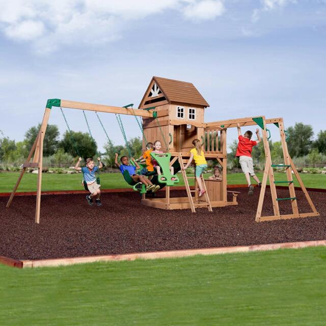 Backyard Discovery Prairie Ridge Swing Set 2 Belt Swings ...