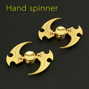 Image Is Loading Gold Fidget Hand Spinner Metal Finger Gyro Toy