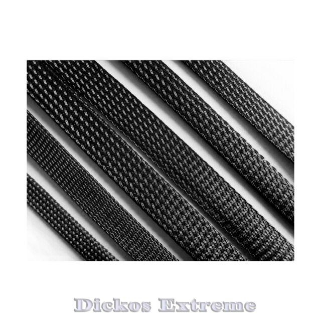 12mm BLACK PET Expandable Braided Cable Sleeving - Per Meter.