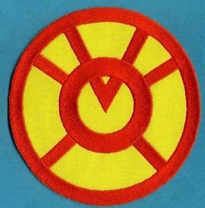 5-034-Orange-Lantern-Corps-Classic-Style-Embroidered-Variant-Patch-on-Yellow-Fabric