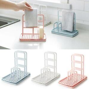 Kitchen-Organizer-Dish-Cloths-Drain-Rack-Clean-Sponge-Shelf-Holder-Storage-Q1B6