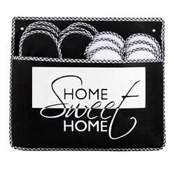 ABS Gästepantoffel HomeSweet 6er Set, Antirutsch Noppen Hausschuhe Pantoffel