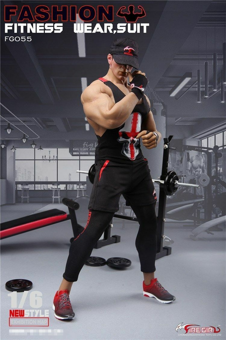 1 6 FireGirl Toys Men's Fitness Instructor Clothing Sports Vest F12  Male Figure