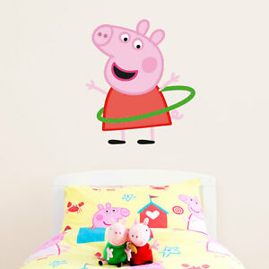 Official Peppa Pig wall stickers range Large size Personalised Fairy Princess Peppa Pig wall stickers