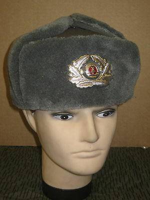Ddr Nva Gardes-frontières Bonnet D'hiver Officier Gr 55-58 Clothing, Shoes & Accessories