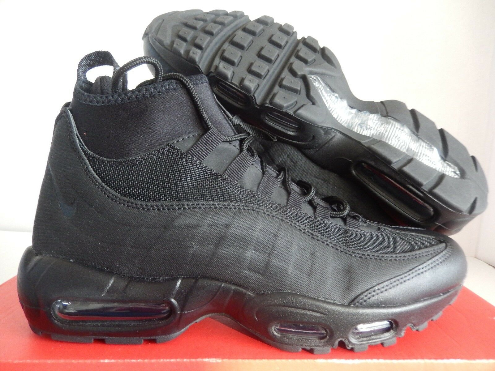 c87a413045fda1 Nike Air Max 95 Sneakerboot Mens Size 8 Triple Black 806809 002 for ...
