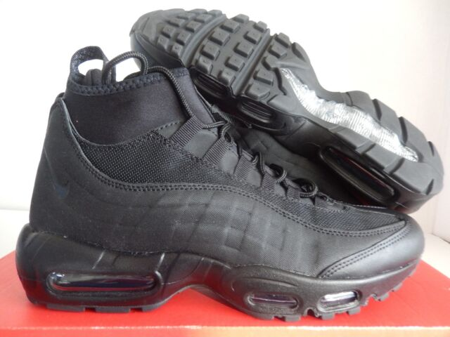 sneakers for cheap 68f9e 922e9 Nike Air Max 95 Sneakerboot Mens Size 8 Triple Black 806809 002
