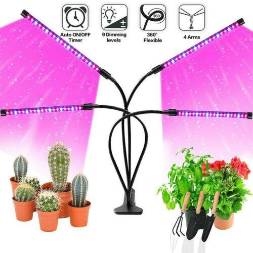 Adjustable LED Grow Light Plant Growing Veg Flower Indoor Clip Plant Lamp Home