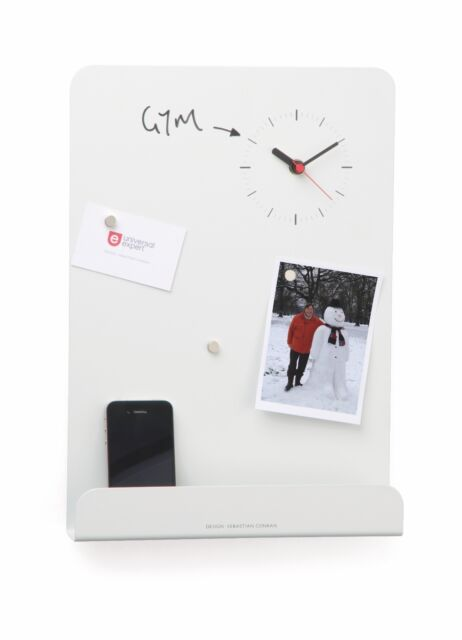 Universal Expert™️ Magnetic Wall Organiser Wipeboard with Clock 🕰 Home Kitchen