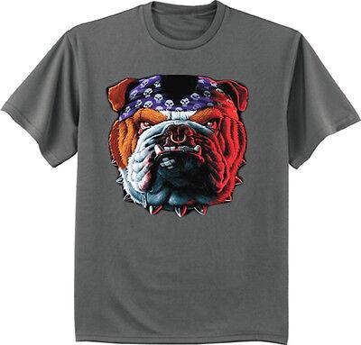 Biker Bulldog t-shirt bull dog bully breed tee shirt men/'s t-shirt tee shirt