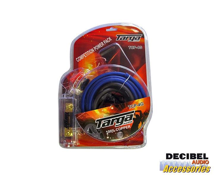 Targa Audio 4-Gauge 100% Pure Copper Gauge Competition Power Pack Wiring Kit
