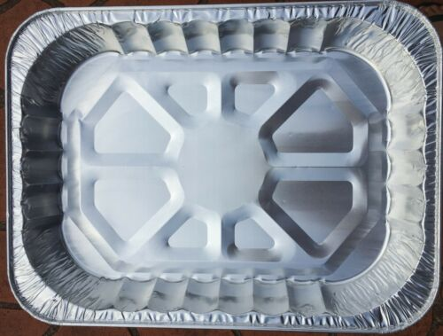 20 Large Aluminum Foil Trays BBQ Disposable Roasting takeaway Oven Baking Party