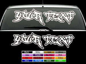 Custom GRAFFITI Vinyl Decal Lettering Auto Wall Art Sticker EBay - Custom vinyl wall decals graffiti