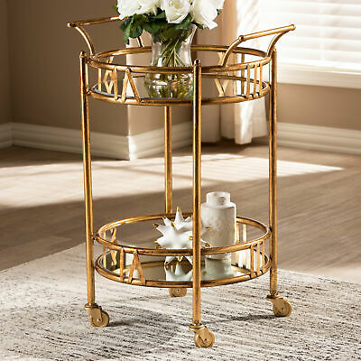 Charlton Home Elysian 2-Tier Mobile Bar Cart
