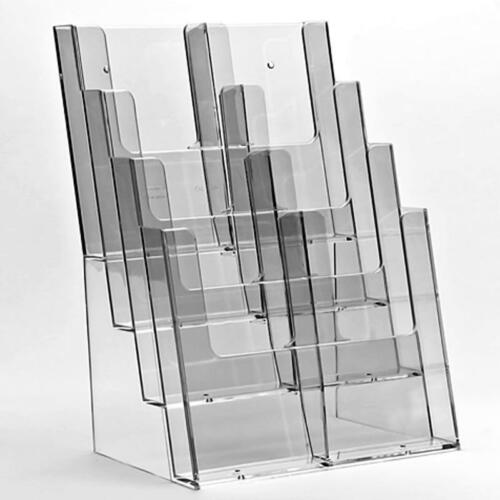 Wall Business Card Dispenser A6 DL A5 A4 Leaflet Holders Brochure Display Stand