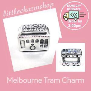 New Authentic Genuine PANDORA Silver Melbourne Tram Charm -791219CZ RETIRED