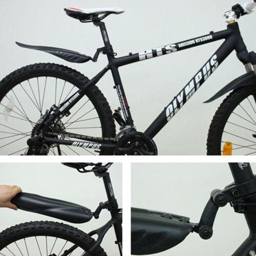 2pcs Bicycle Mud Guard Set Mountain Bike Mudguards MTB Front Rear Fenders Wing H
