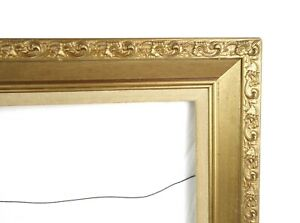 Vintage Antique Style Picture Frame Gold Gilt Gesso Baroque Fits 24 x 15