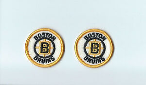 """Set of 2 Boston Bruins Vintage 1980s 2"""" Round Patch Old Logo (sew on only)"""