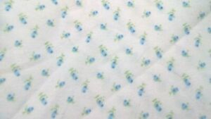 BLUE-amp-WHITE-EXTRA-SOFT-FLANNEL-100-COTTON-1-3-4-YD-PICE-X-45-034-TOTAL-5-17