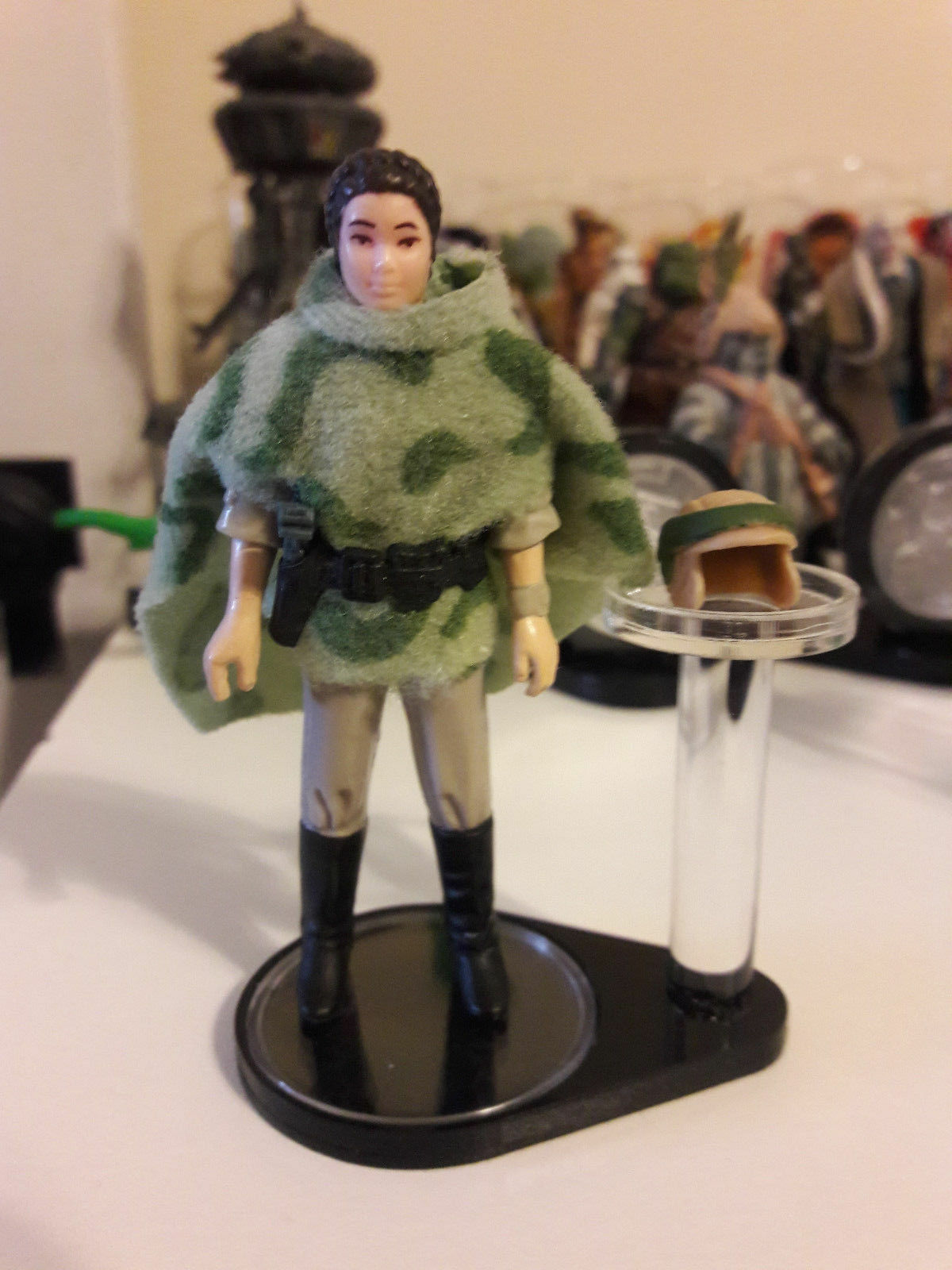 4 x Vintage Star Wars Figure + Helmet Stands - Kenner (DISPLAY STAND ONLY)