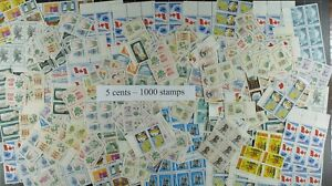 Weeda-Canada-Postage-Lot-of-1000-x-5c-stamps-mostly-NH-50-Face-Value-useful